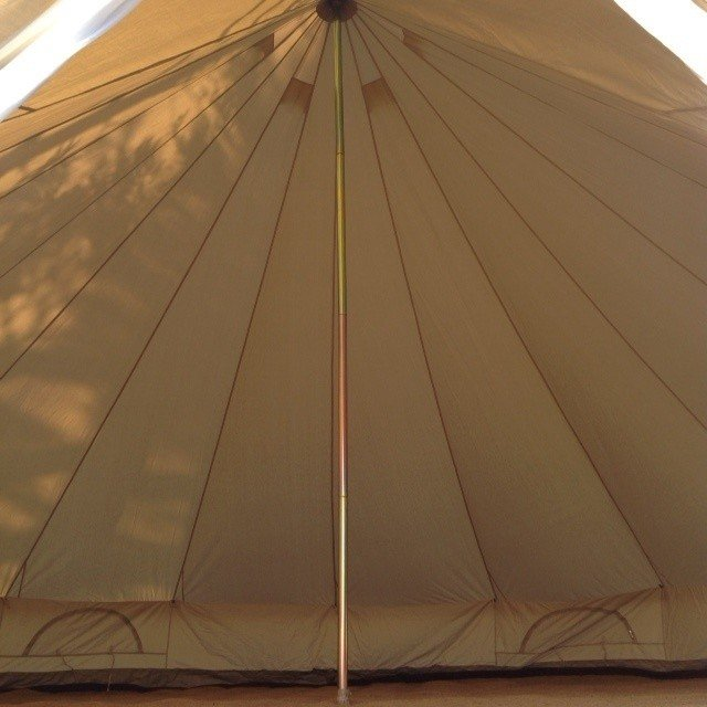 Summerlands 6m Bell Tent Inside View with just the Carpet & Bell Tent