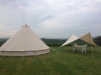 Bell Tent with seperate dining canopy